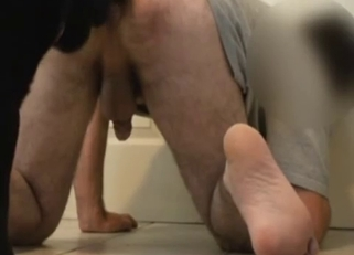 Dude with tight ass banged by the dog